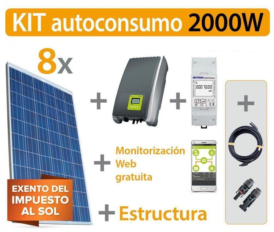 Kit autoconsumo inyección cero 2000w